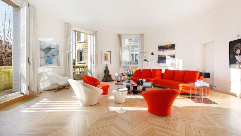 Dans le 16e arrondissement parisien, ce lumineux appartement de 320 m² a été vendu 12.5000 €/m² par Féau. Crédit: Sébastien Dondain/Féau