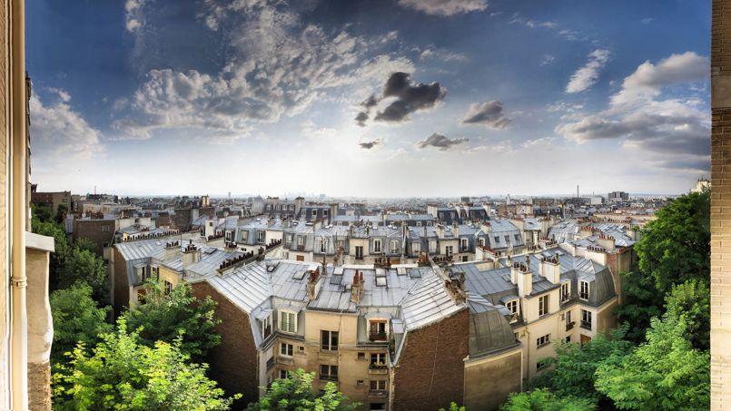 Vue de Paris depuis une terrasse de la rue Caulaincourt (Paris, XVIIIe). Crédit: Panoramas. (Flickr).
