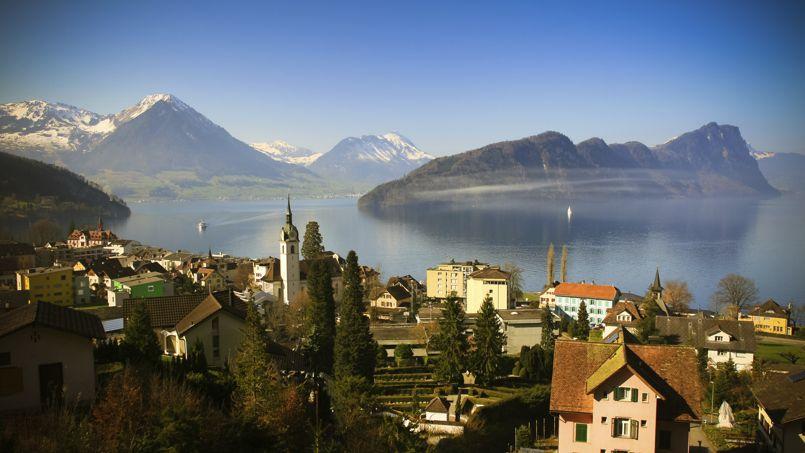 Les rives du lac de Lucerne, en Suisse.
