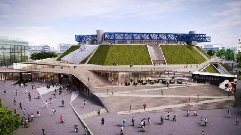 Visite guid e de l accorhotels arena un bercy plus grand for Parking exterieur paris