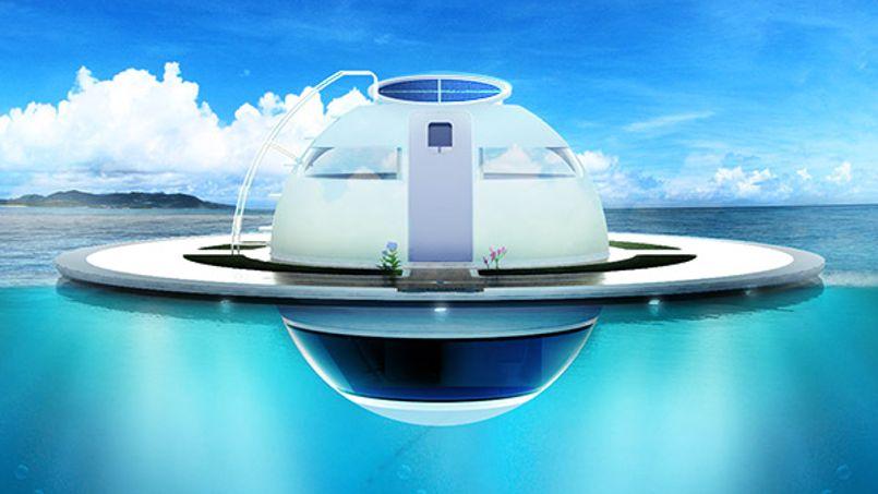 entre maison et bateau une soucoupe pour vivre sur et sous l eau. Black Bedroom Furniture Sets. Home Design Ideas