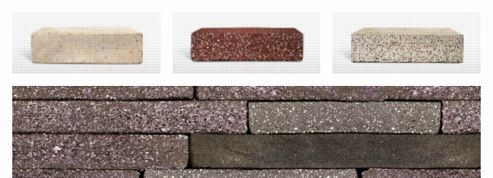 Ces briques sont fabriquées avec des déchets industriels
