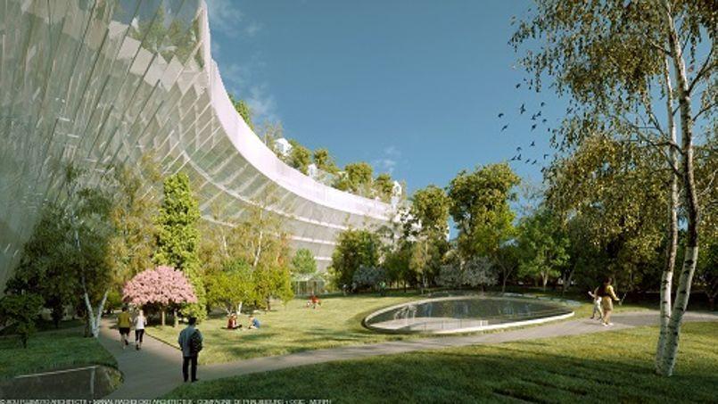 Mille arbres à Paris, projet emblématique de la capitale de demain. Il se situe dans le XVIIe, à deux pas du palais des Congrès.