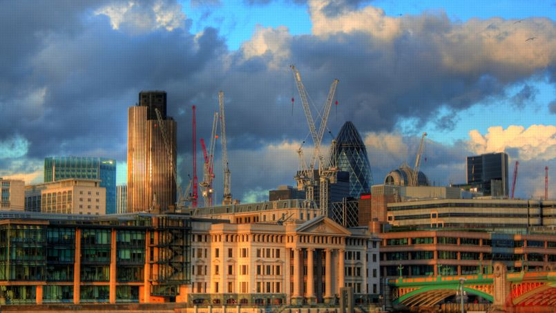 Le quartier d'affaires de Londres. Crédit: Graeme Maclean. (Flickr)