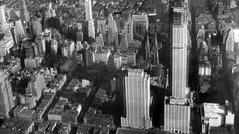 Vue du Rockefeller Center en 1932.