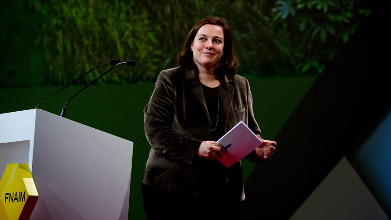 La ministre du Logement Emmanuelle Cosse au congrès de la FNAIM, le 6 décembre dernier.