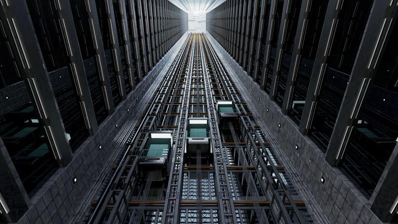 La folle course la vitesse des ascenseurs de gratte ciel for Location garage villeurbanne gratte ciel