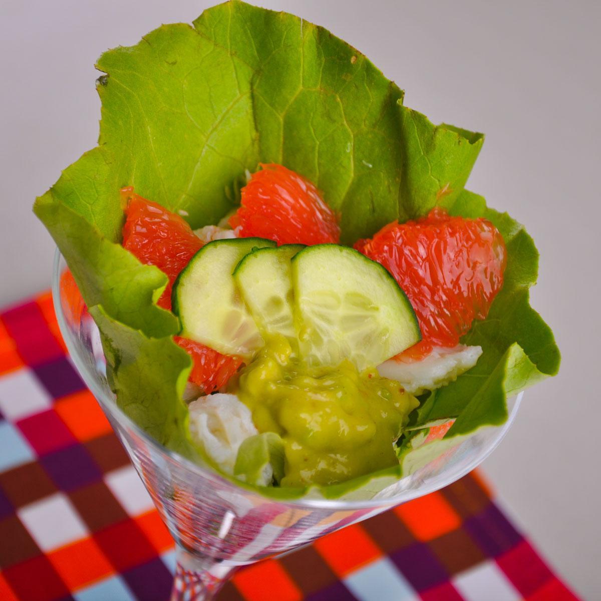 recette coupe de salade de crabe cuisine madame figaro. Black Bedroom Furniture Sets. Home Design Ideas