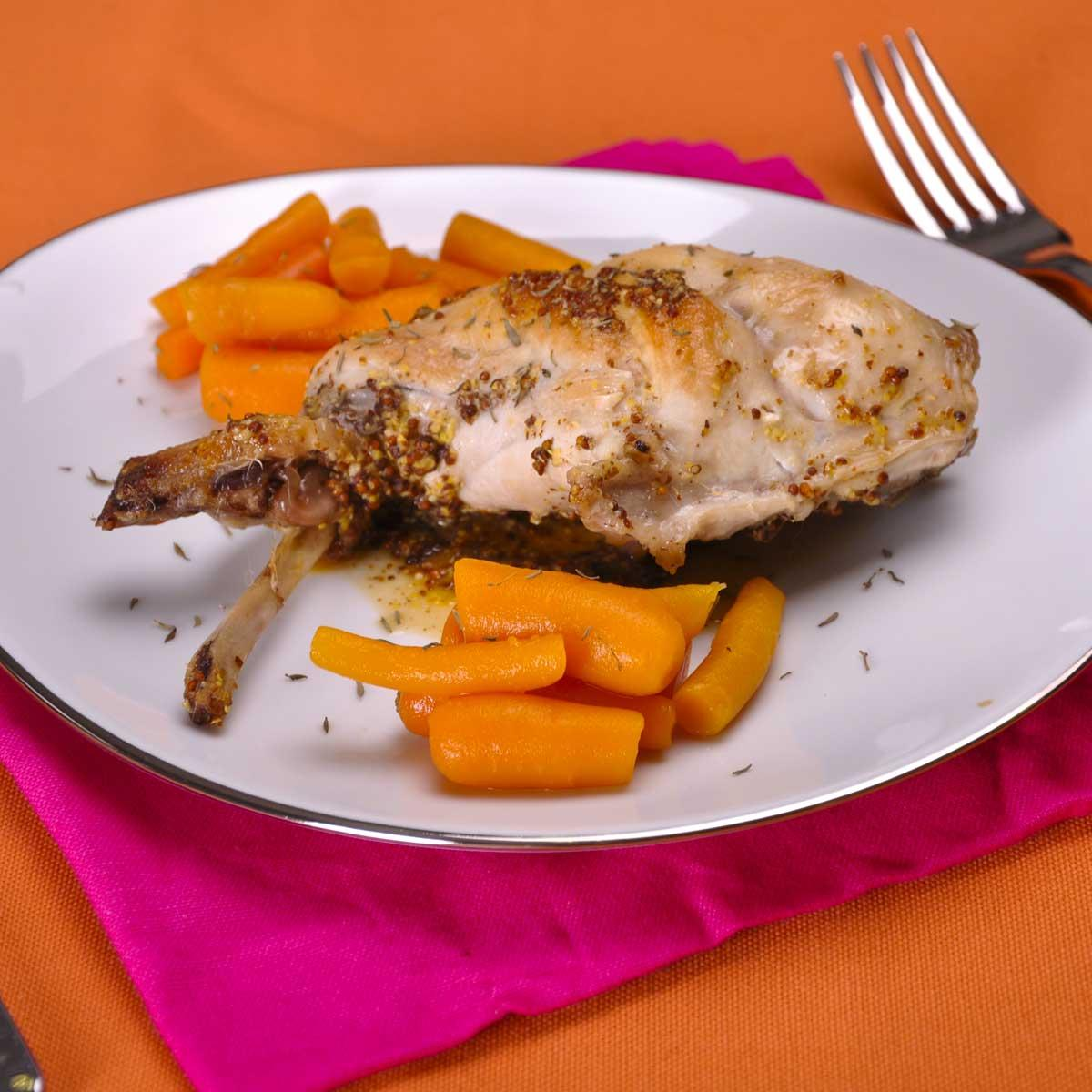 Le lapin la moutarde de bernard loiseau une recette - Cuisine belge recettes du terroir ...