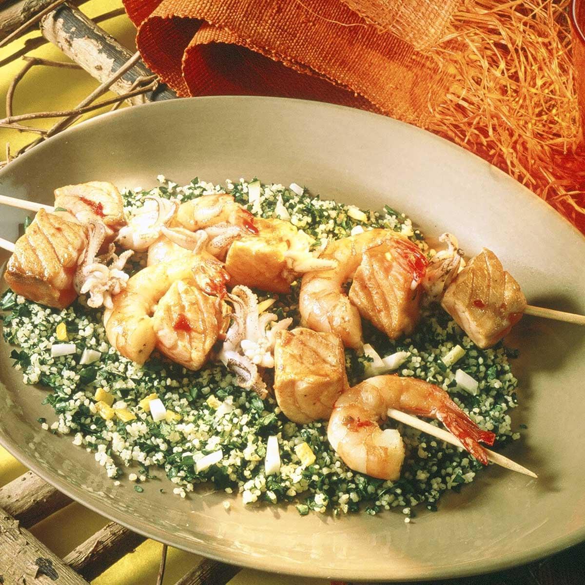 Brochettes de saumon sauce soja une recette barbecue for Entree barbecue facile