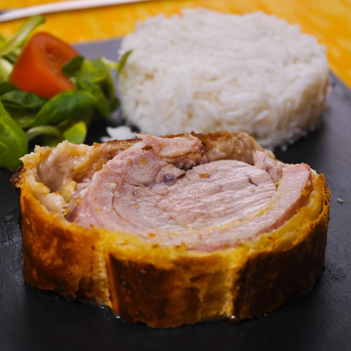 Recette filet mignon de porc feuillet aux champignons cuisine madame figaro - Recette paupiette de porc facile ...