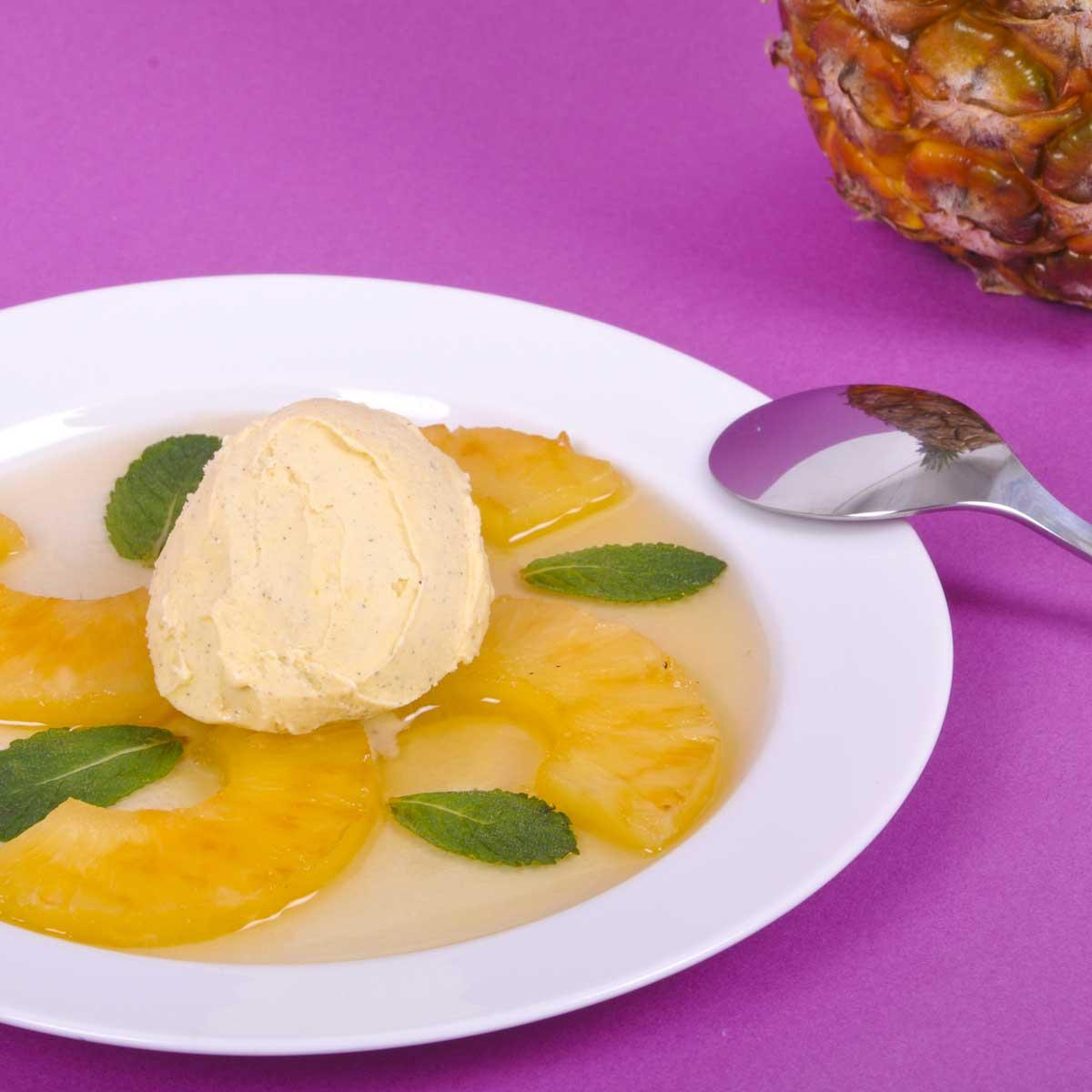 recette ananas po l au miel de lavande cuisine madame figaro. Black Bedroom Furniture Sets. Home Design Ideas