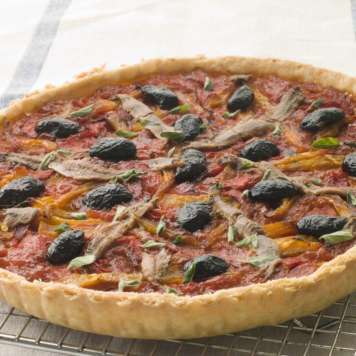 Recette tarte aux tomates oignons et anchois cuisine - Idee recette tarte salee ...
