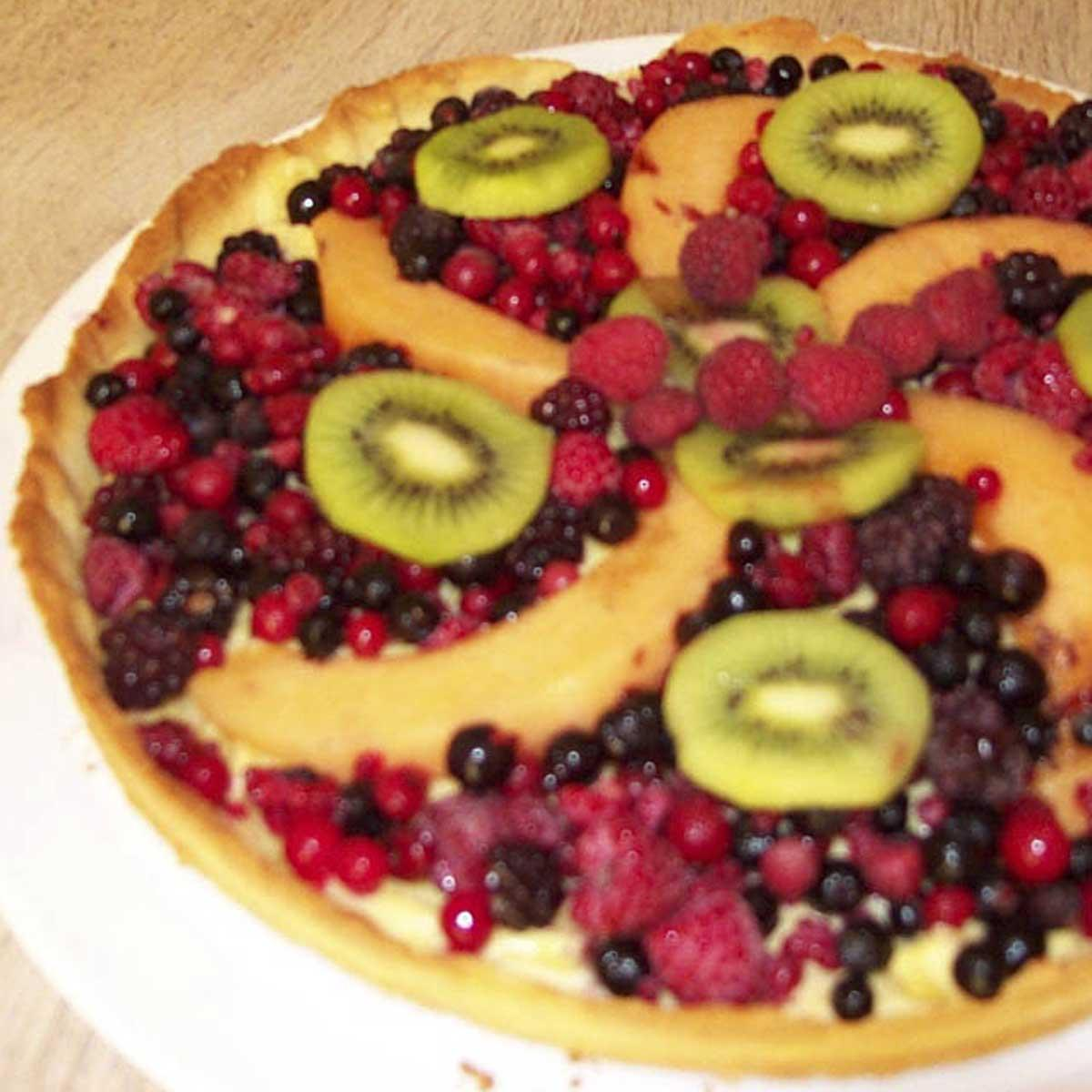 recette tarte aux fruits rouges et melon cuisine madame figaro. Black Bedroom Furniture Sets. Home Design Ideas