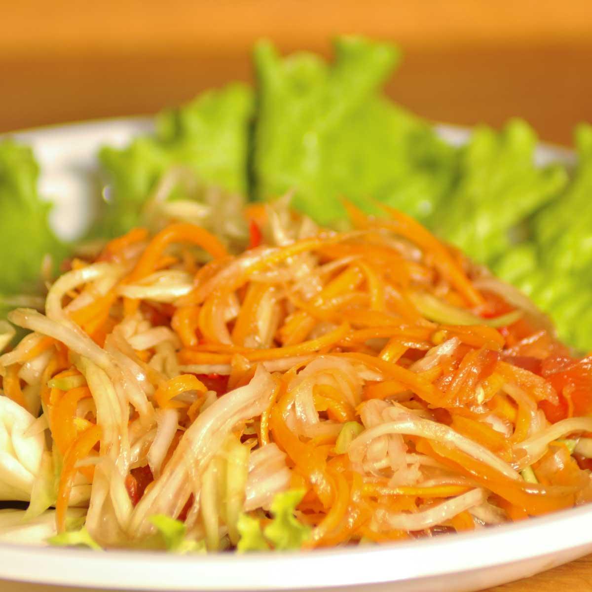 Recette salade tha landaise de papaye verte cuisine madame figaro - Recette cuisine thailandaise ...