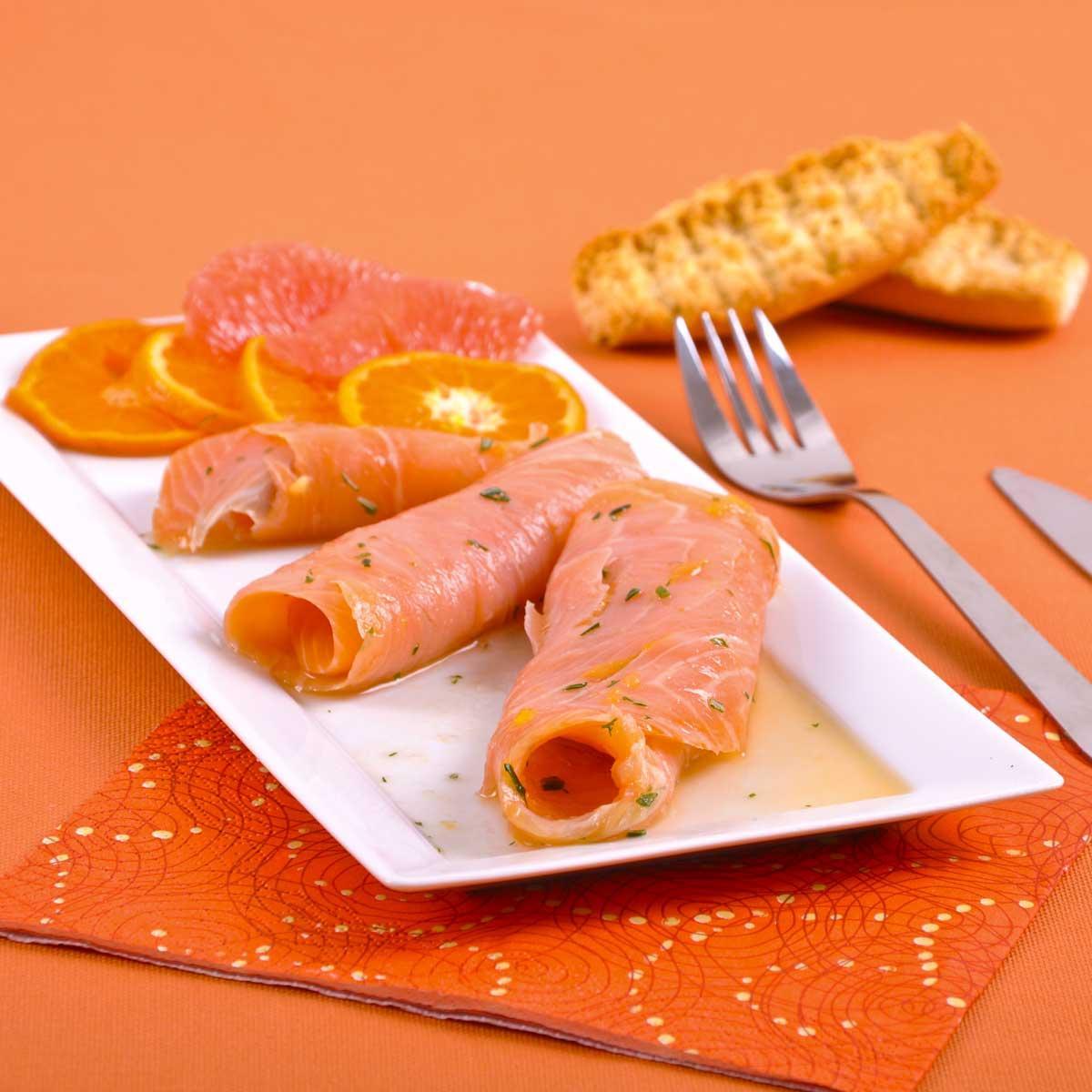 Recette saumon fum aux agrumes cuisine madame figaro - Prix du saumon ...