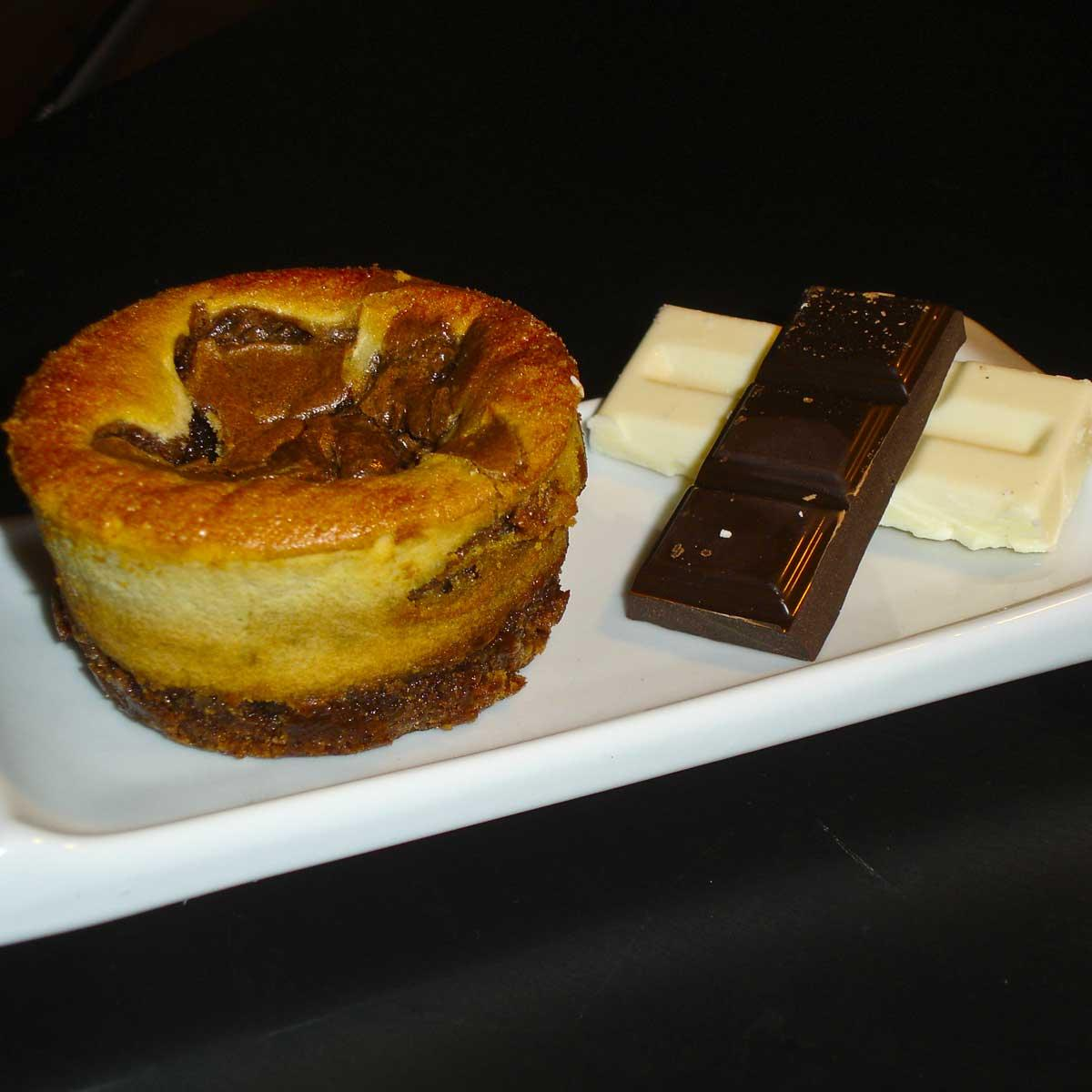 Recette gâteau noir et blanc aux deux chocolats - Cuisine /...