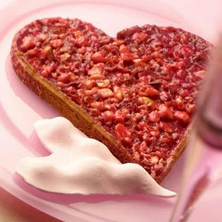 Tarte la praline de la saint valentin une recette tarte sucr e cuisine le figaro madame - La cuisine de madame saint ange ...