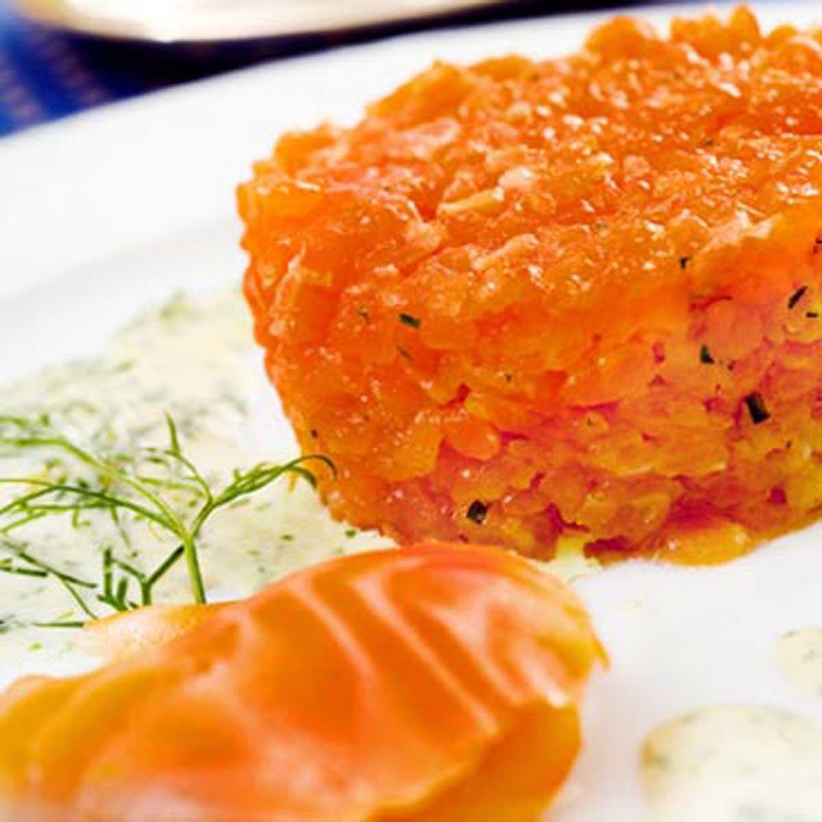 Recette tartare de saumon au gros sel cuisine madame - Desherber au gros sel ...