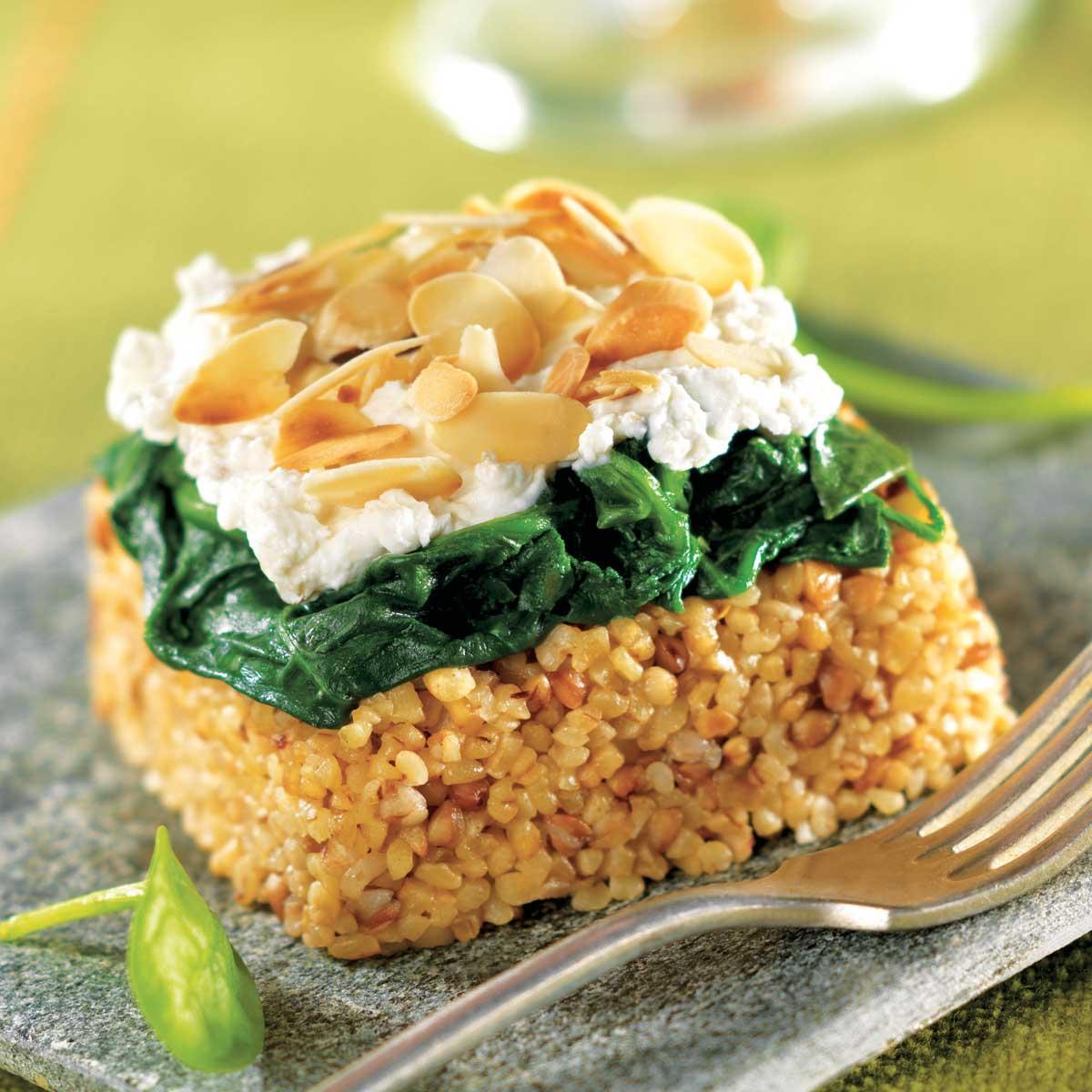 Sarrasin pinards et fromage de ch vre fa on parmentier une recette v g tarien cuisine le - Recherche recette de cuisine ...