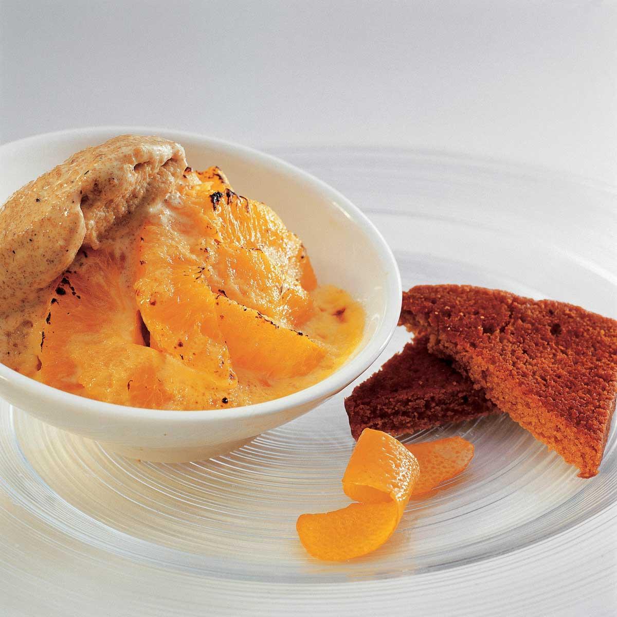 gratin d 39 oranges boule de glace au pain d 39 pices une recette d couverte cuisine le figaro. Black Bedroom Furniture Sets. Home Design Ideas