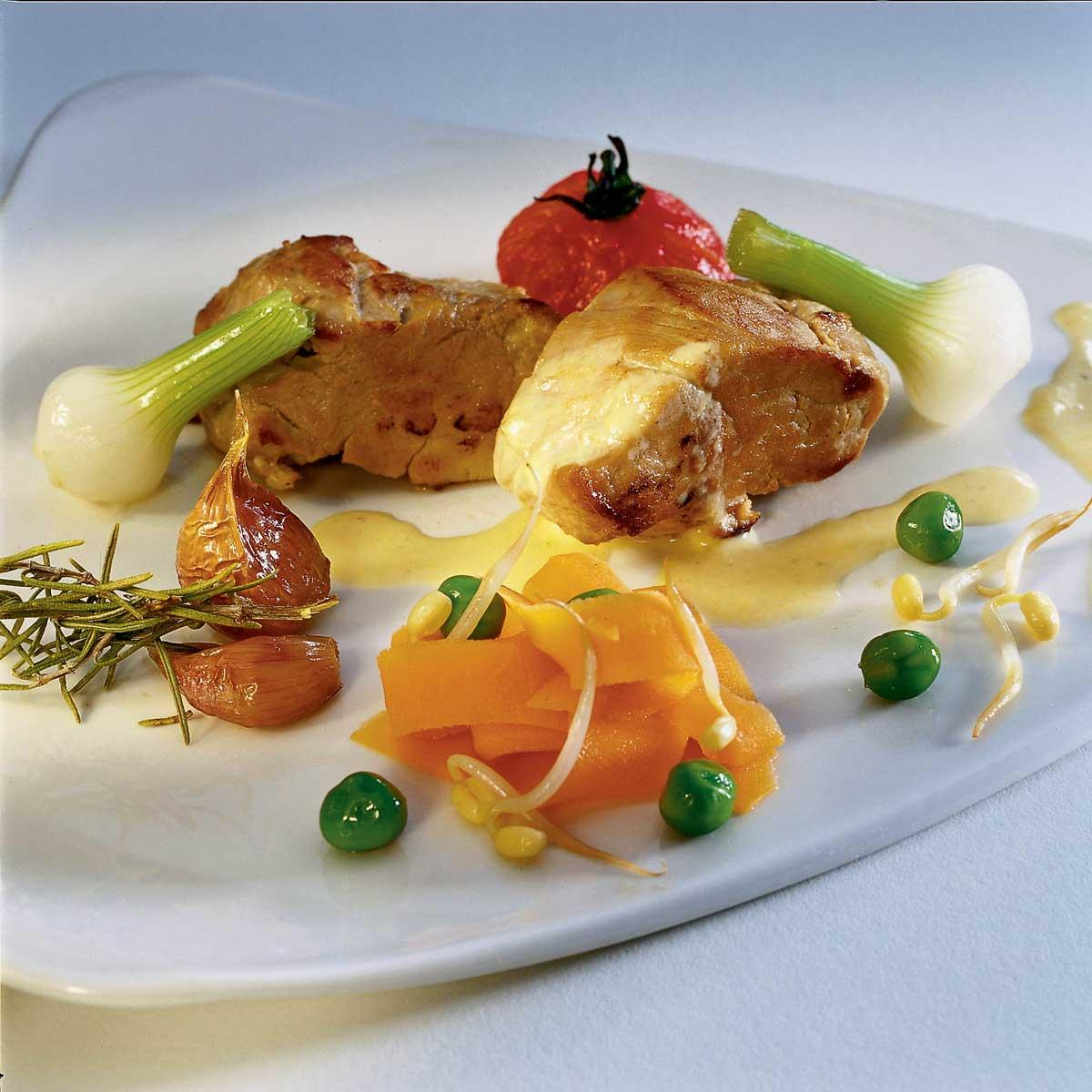 Recette filet de porc au lait et tuv e de l gumes - Recette de cuisine facile et rapide plat chaud ...