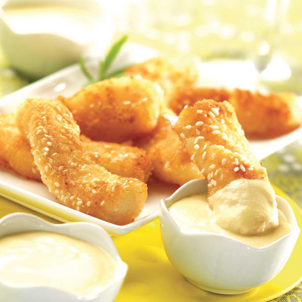 recette nuggets de poisson sauce au beurre blanc cuisine madame figaro. Black Bedroom Furniture Sets. Home Design Ideas