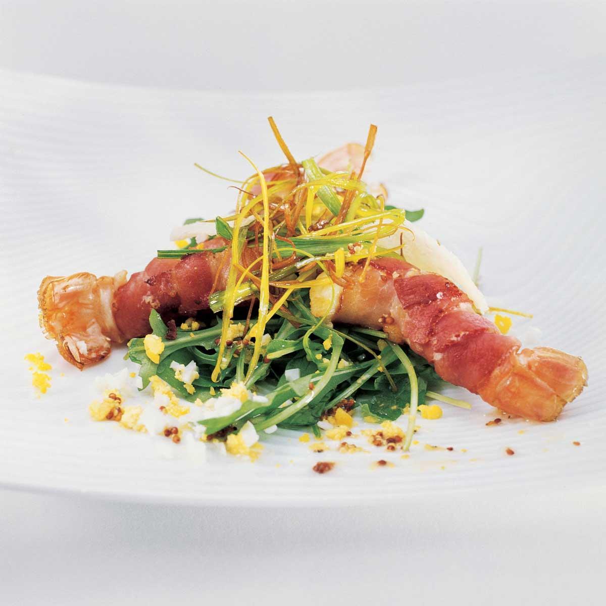 Recette salade de langoustines cuisine madame figaro for Entree gastronomique