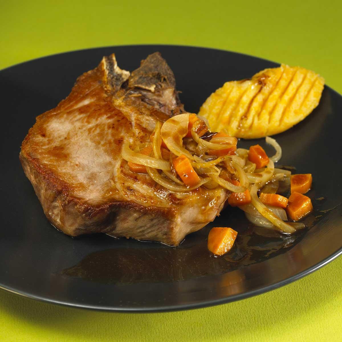 Recette chine de porc au cidre cuisine madame figaro - Recette paupiette de porc facile ...