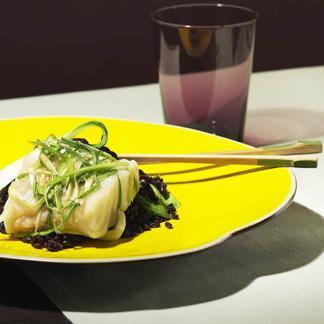 lieu jaune au riz noir et ciboule une recette asiatique. Black Bedroom Furniture Sets. Home Design Ideas