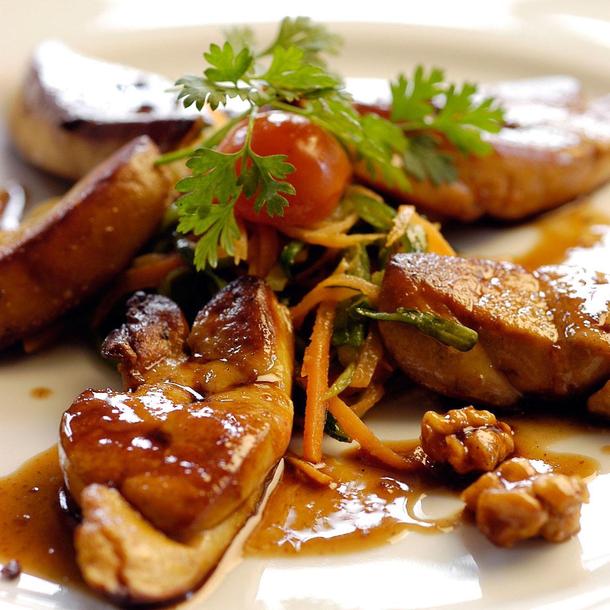 Recette escalopes de foie gras po l aux noix cuisine - Recette de foie gras ...