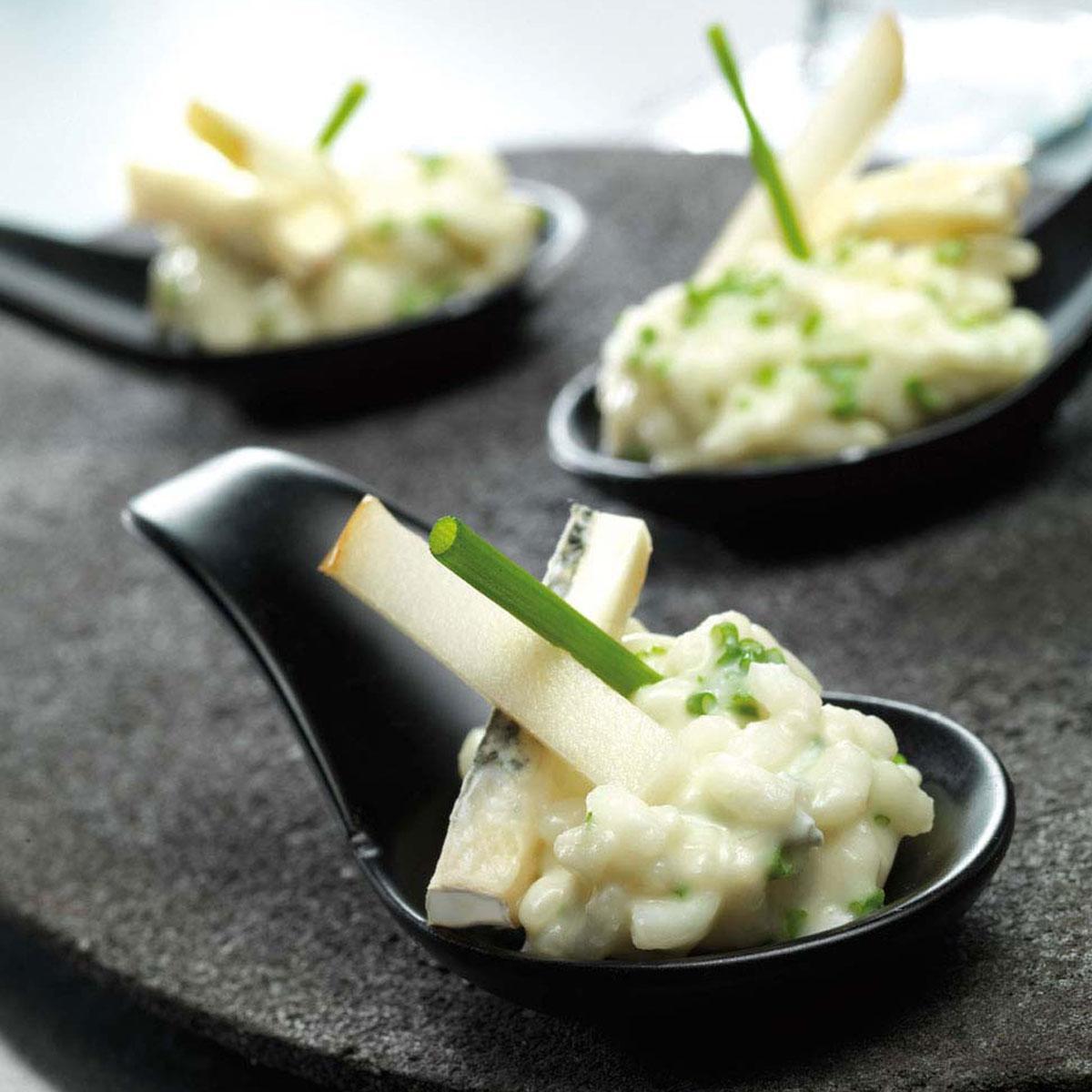 risotto aux poires et au bleu