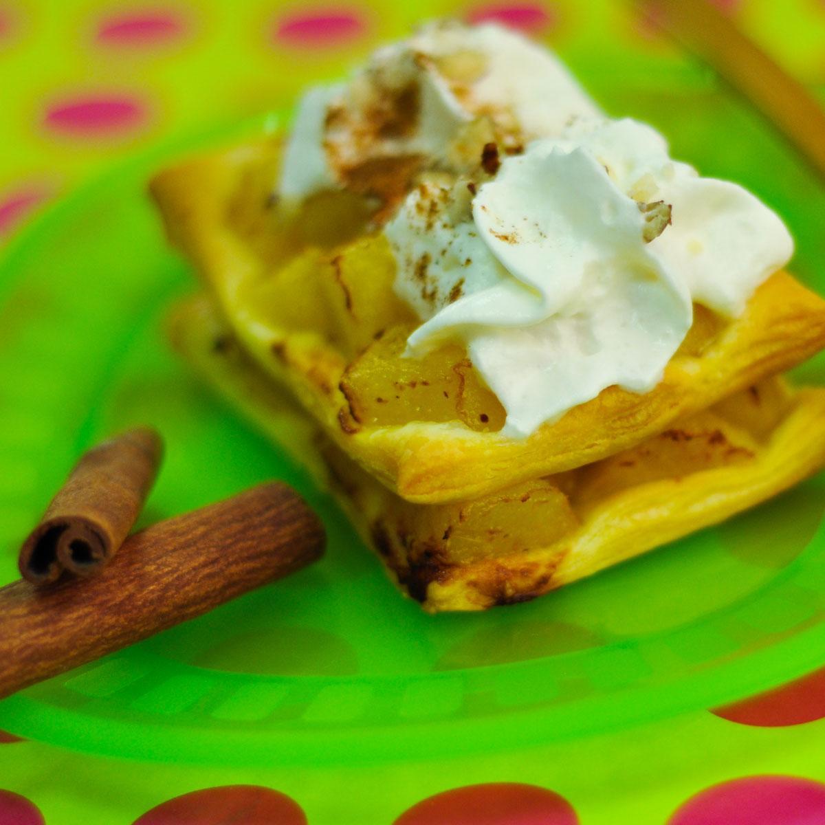 Recette millefeuille d 39 automne aux pommes et poires - Plat d automne cuisine ...