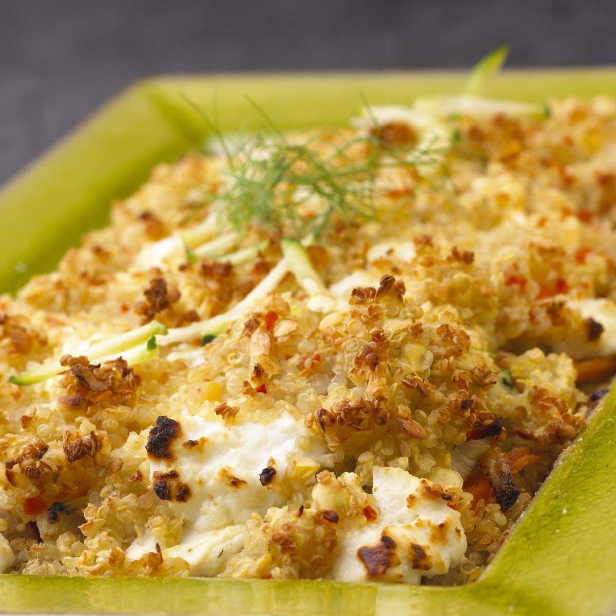 Recette gratin de quinoa aux petits l gumes et ch vre for Cuisine quinoa