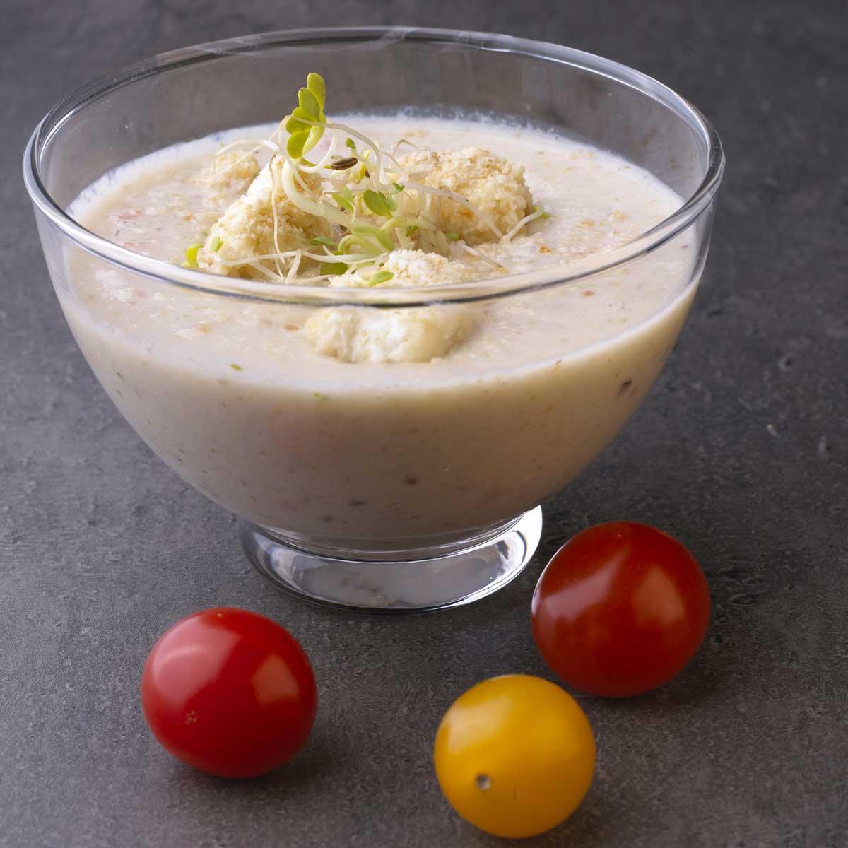 Recette gaspacho au fromage frais cuisine madame figaro - Recette de cuisine en espagnol ...