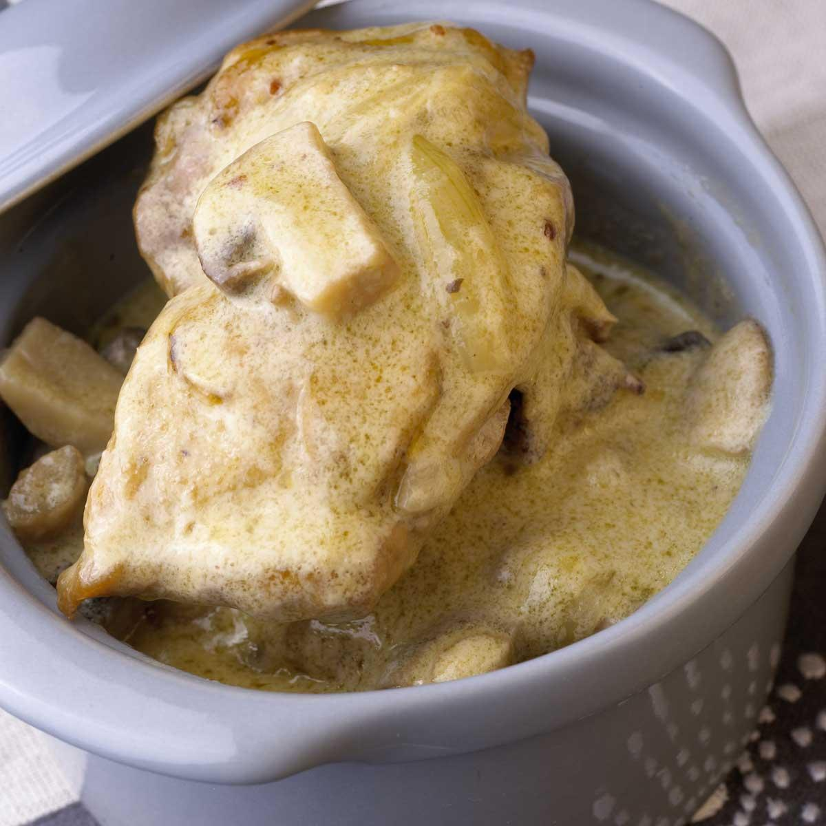 Poulet la normande une recette terroir cuisine le for Specialite normande cuisine