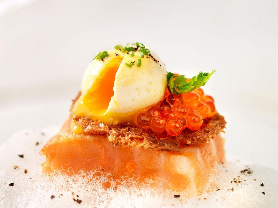 Saumon fum uf de caille confit et mulsion d 39 amandes - Faire une emulsion en cuisine ...