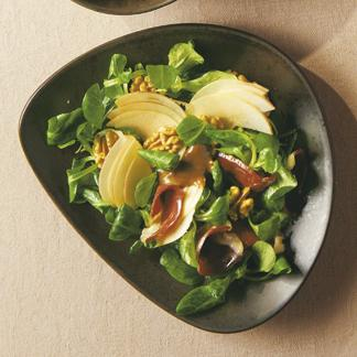 m che et magret fum une recette salade cuisine le figaro madame. Black Bedroom Furniture Sets. Home Design Ideas