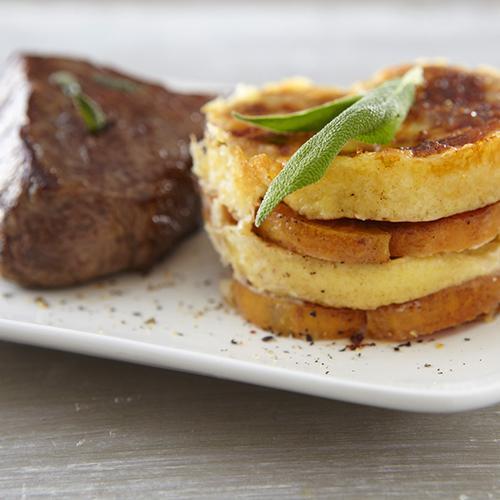 gratin de quenelles nature et patate douce pav de b uf la sauge une recette viande. Black Bedroom Furniture Sets. Home Design Ideas