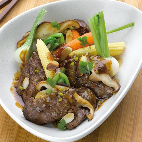 wok veau pleurottes legumes calvados jpg