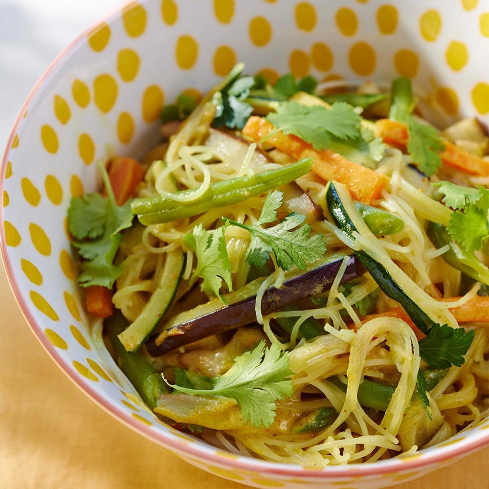 Recette nouilles saut es aux l gumes et coco cuisine - Recette de cuisine simple avec des legumes ...