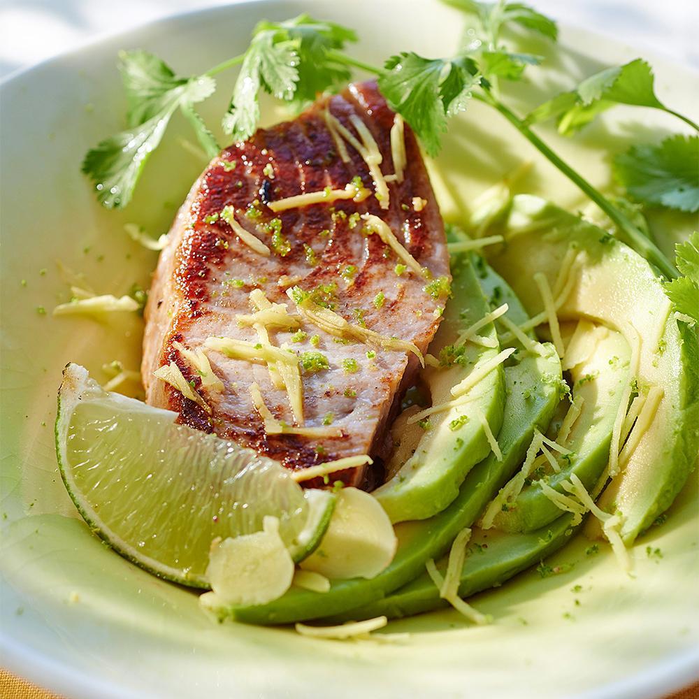 Thon recette thon rouge en crote dpices with thon recette recette lgre fleur dartichaut farcie - Recette steak de thon grille ...