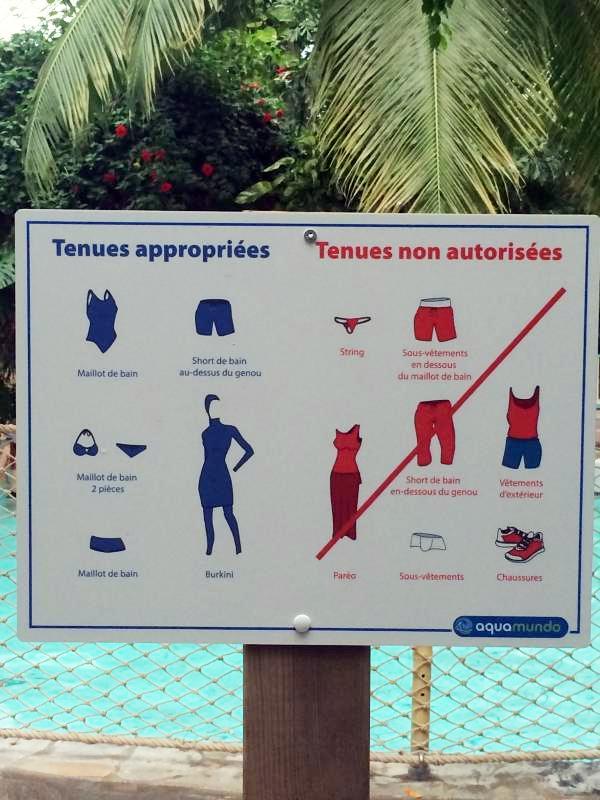 Burkini autoris string interdit des vagues dans les for Short de bain piscine