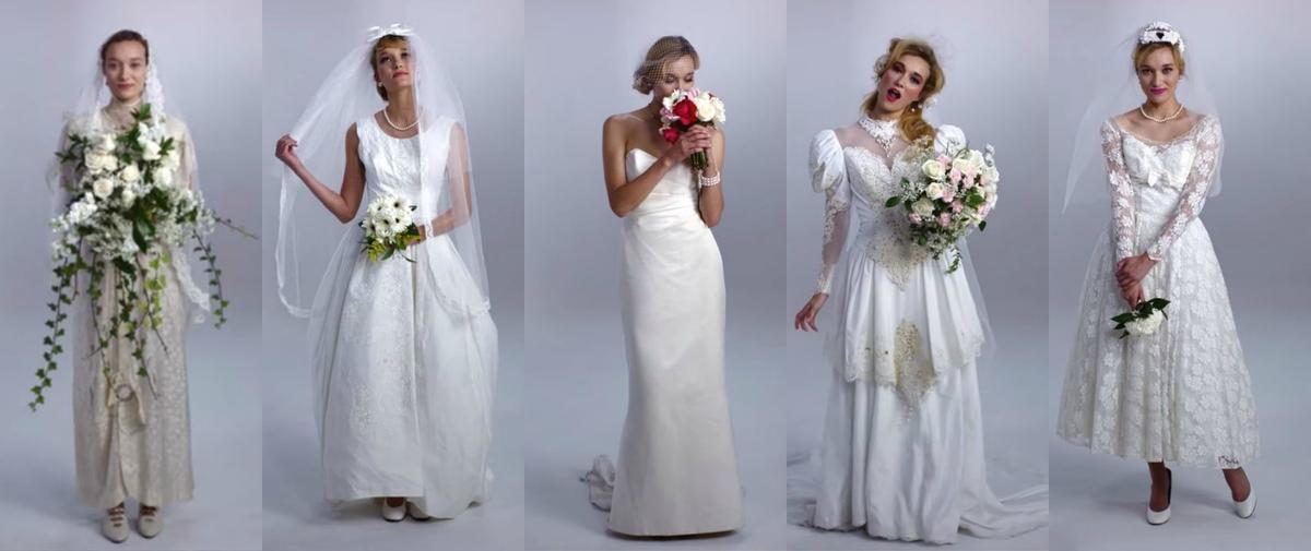 un si cle de robes de mari es r sum en 3 minutes madame