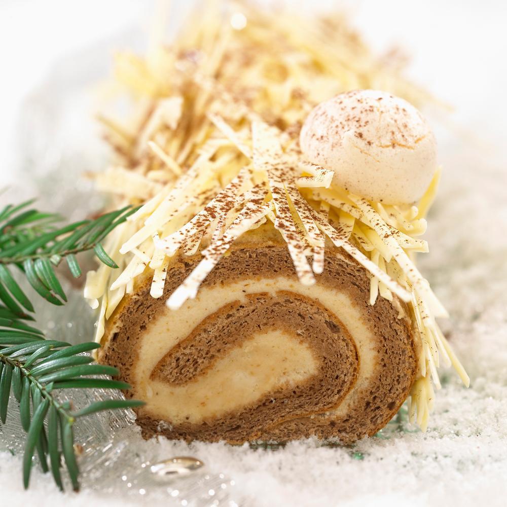 B che de no l la cr me de marron et au chocolat une recette desserts de f tes cuisine le - Buche de noel facile et legere ...