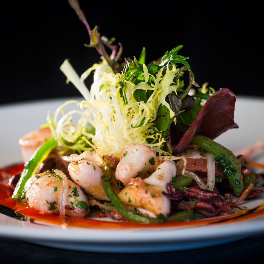 Recette calamar la plancha chorizo et piments d for Plancha cuisine