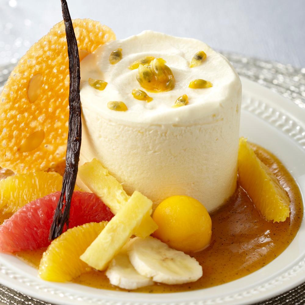 Caprice exotique ananas agrumes de georges blanc une recette desserts de f tes cuisine le - Cours de cuisine georges blanc ...