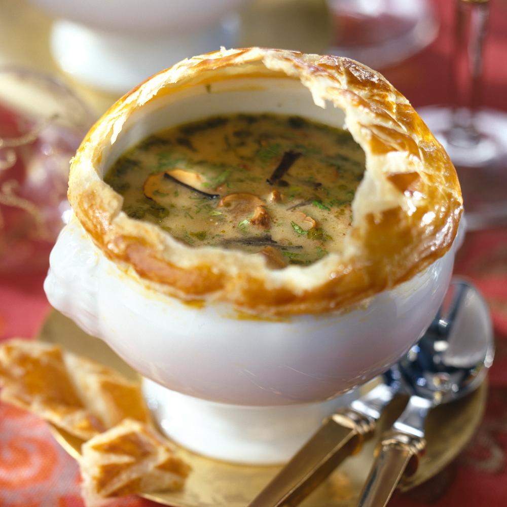 Recette soupe de champignons des bois en croûte , Cuisine /.