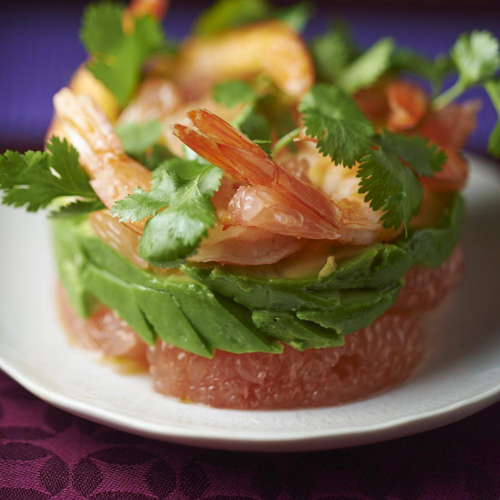 recette salade de crevettes pamplemousse et avocat cuisine. Black Bedroom Furniture Sets. Home Design Ideas
