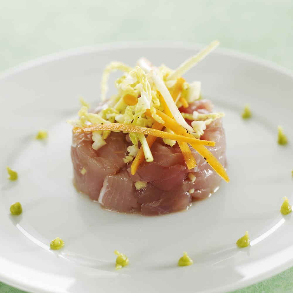 Tartare de thon la tha l gumes croquants au wasabi par fr d ric d 39 ambrosio une recette - La cuisine de madame saint ange ...